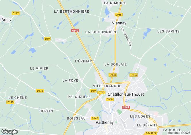 Map for Bressuire, Deux-Sèvres, 79350, France