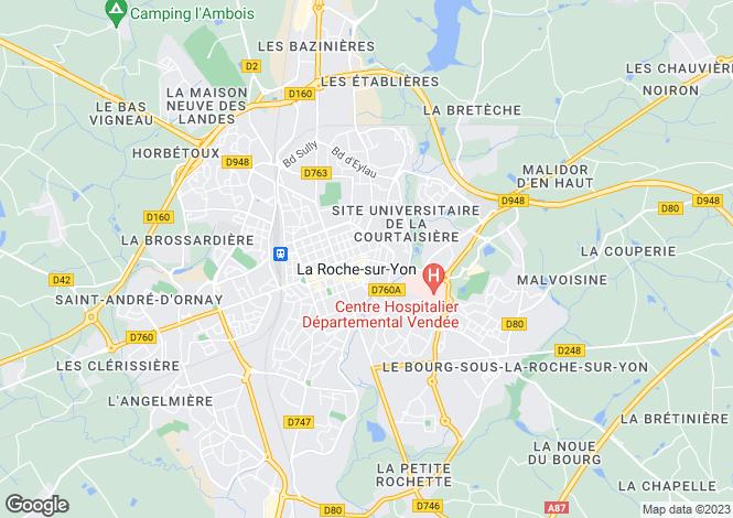Map for Pays de la Loire, Vendée, La Roche-sur-Yon