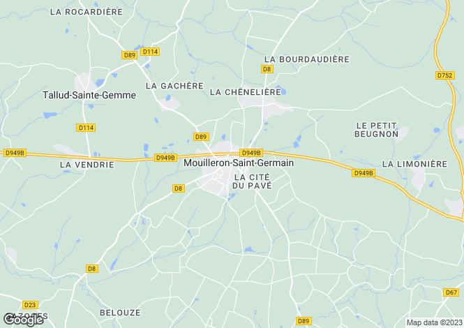 Map for Mouilleron-en-Pareds, Vendée, Pays de la Loire