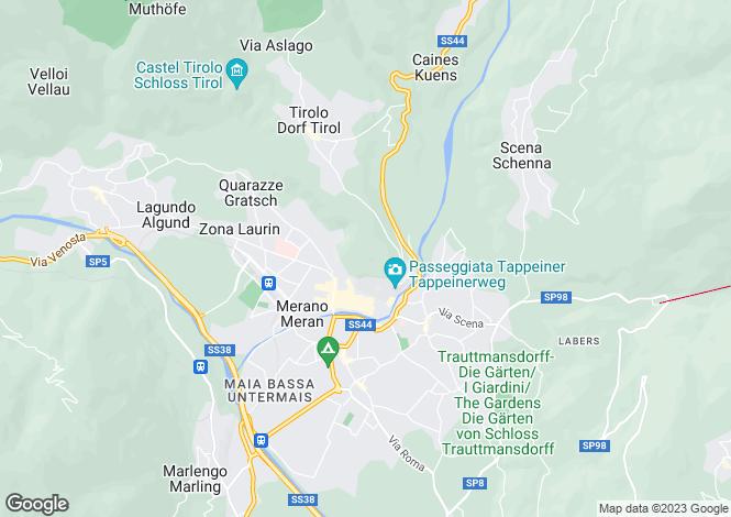 Map for Trentino-South Tyrol, Bozen, Merano