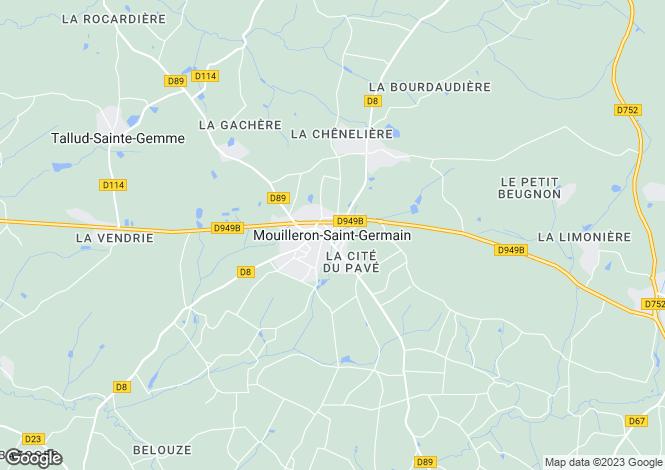 Map for Proche / Near Mouilleron-en-Pareds, Vendee