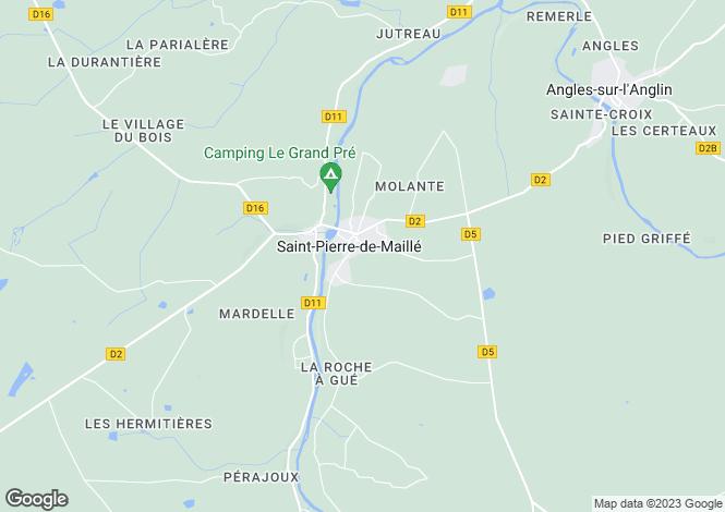 Map for Poitou-Charentes, Vienne, St-Pierre-de-Maillé