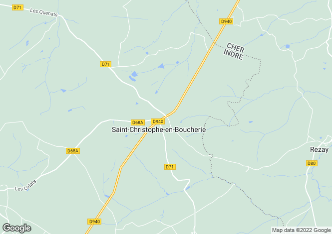 Map for Centre, Indre, St-Christophe-en-Boucherie