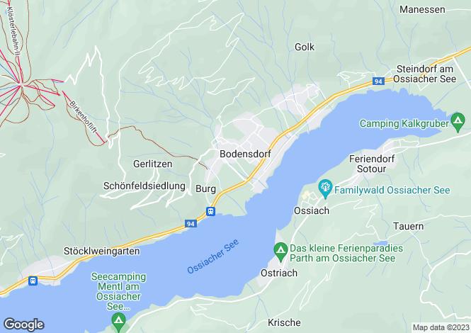 Map for Steindorf am Ossiacher See, Feldkirchen, Carinthia