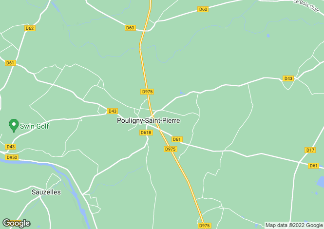 Map for pouligny-st-pierre, Indre, France
