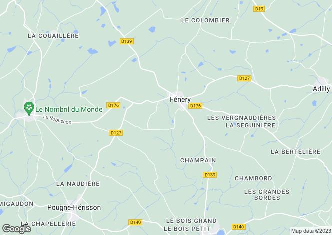 Map for Poitou-Charentes, Deux-Sèvres, Fénery