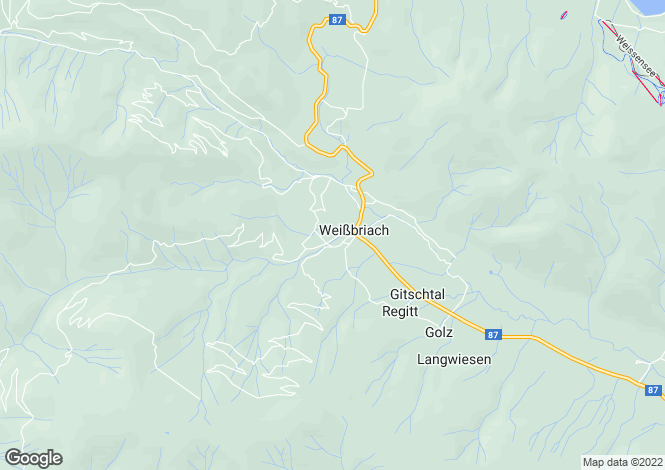 Map for Carinthia, Hermagor, Weißbriach