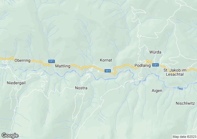 Map for Kärnten, Hermagor, Birnbaum, Austria