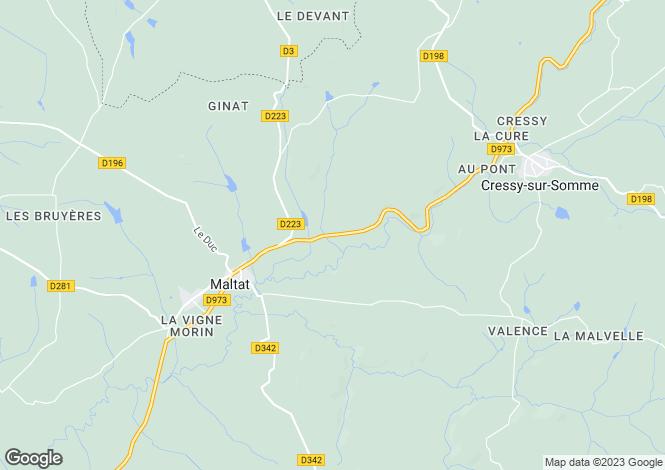 Map for Cressy Sur Somme, Bourgogne, 71760, France