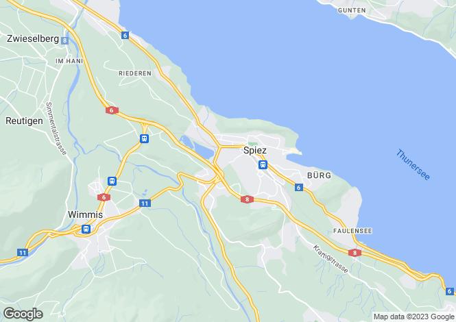 Map for Bern, Spiez