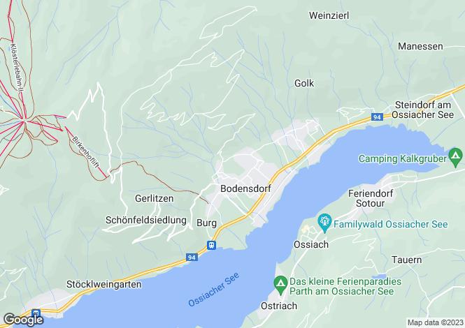Map for Bodensdorf, Feldkirchen, Carinthia