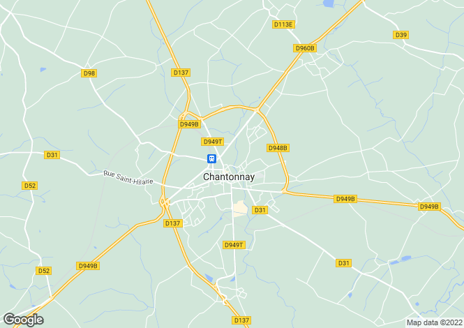 Map for chantonnay, Vendée, France