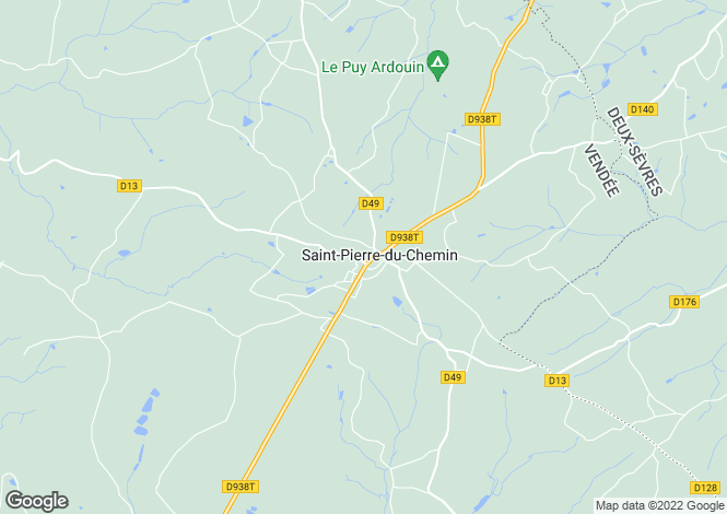 Map for st-pierre-du-chemin, Vendée, France