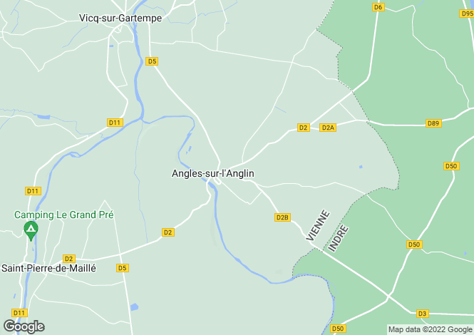 Map for angles-sur-l-anglin, Vienne, France