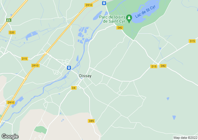 Map for dissay, Vienne, France