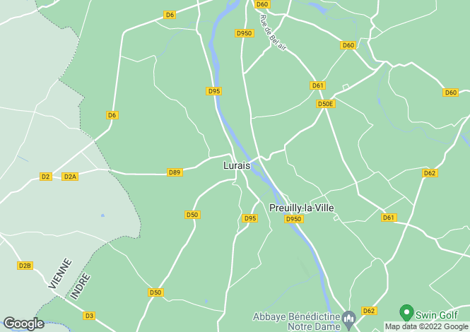 Map for lurais, Indre, France