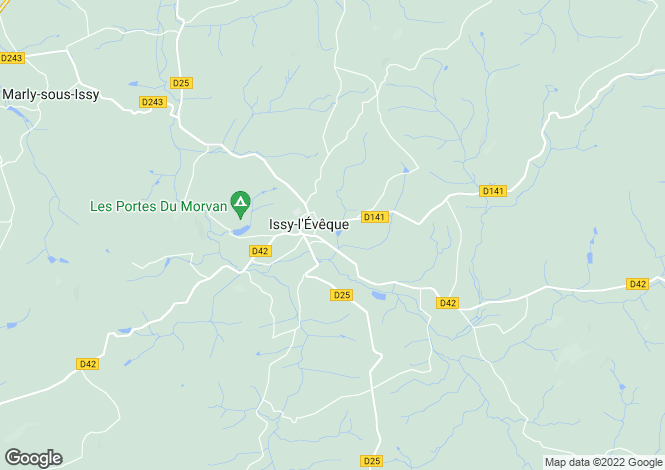 Map for Issy L'eveque, Bourgogne, 71760, France
