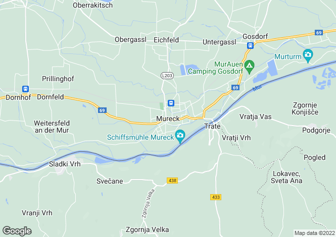 Map for Steiermark, Bad Radkersburg, Mureck, Austria