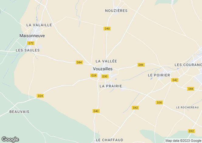 Map for vouzailles, Vienne, France