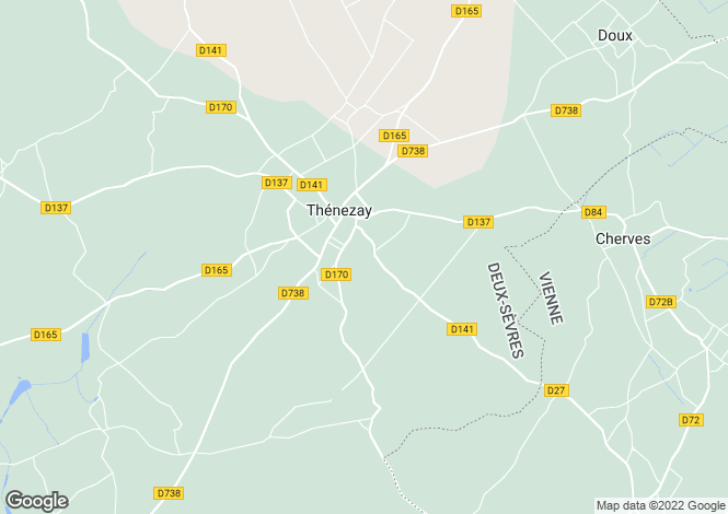 Map for thenezay, Deux-Sèvres, France
