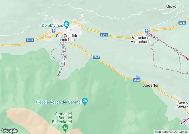 Map for Südtirol, San Candido, Innichen