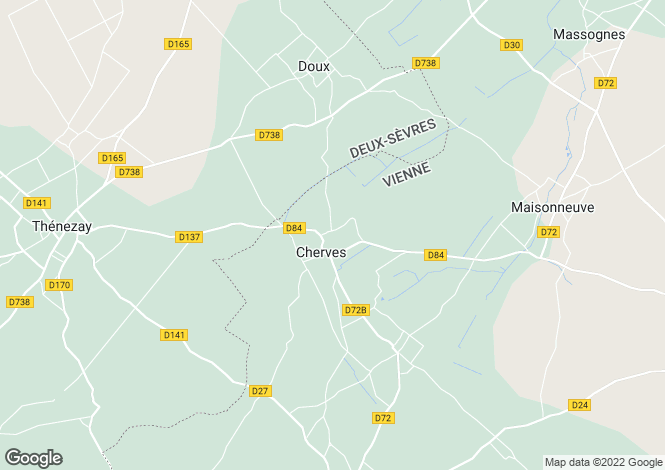 Map for cherves, Vienne, France
