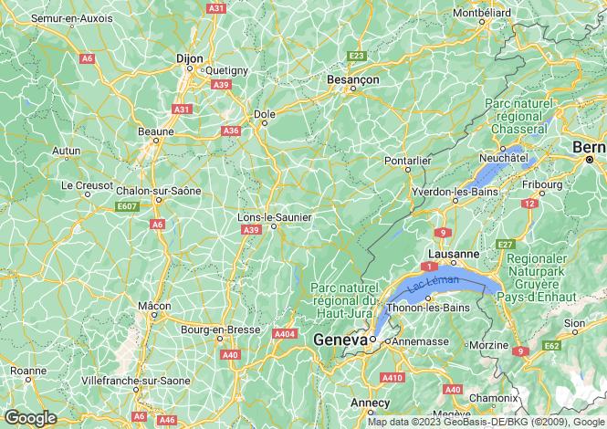 Map for Coteaux du Lizon, Jura