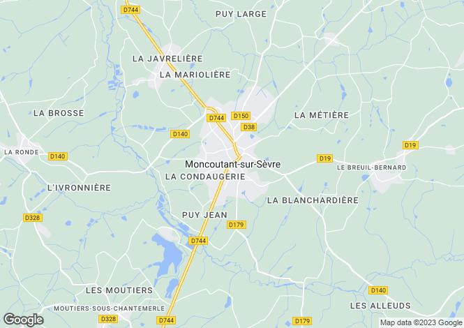Map for Secteur: Moncoutant, Deux-Sevres