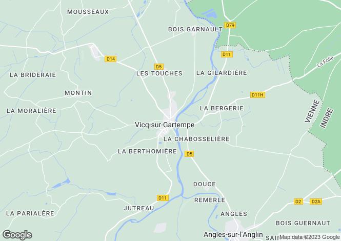Map for vicq-sur-gartempe, Vienne, France