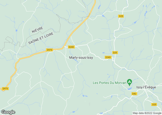 Map for Marly-Sous-Issy, Bourgogne, 71760, France