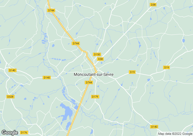 Map for moncoutant, Deux-Sèvres, France