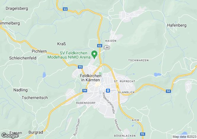 Map for Carinthia, Feldkirchen, Feldkirchen in Kärnten