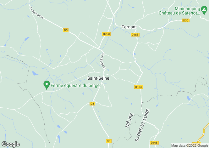 Map for Saint Seine, Bourgogne, 58250, France