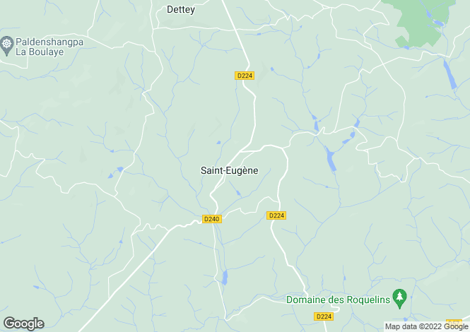 Map for Saint Eugene, Bourgogne, 71320, France