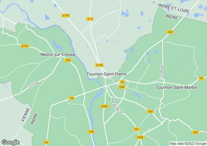 Map for tournon-st-pierre, Indre-et-Loire, France