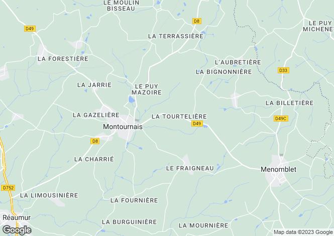 Map for pouzauges, Vendée, France