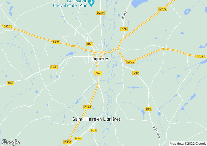 Map for lignieres, Cher, France