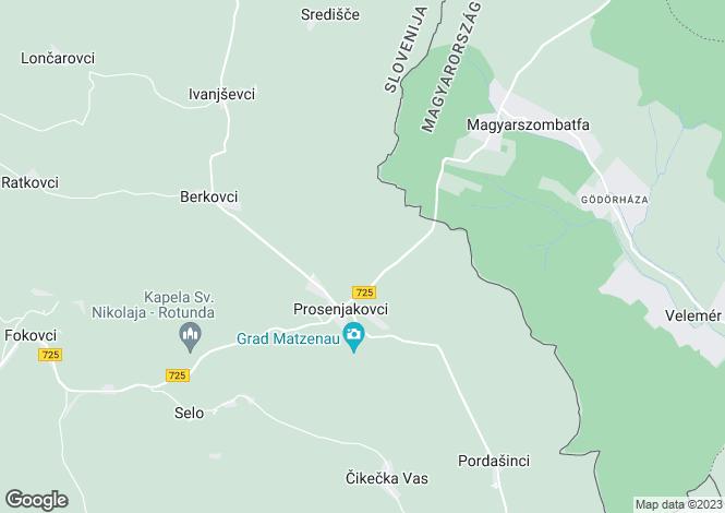 Map for Murska Sobota, Prosenjakovci