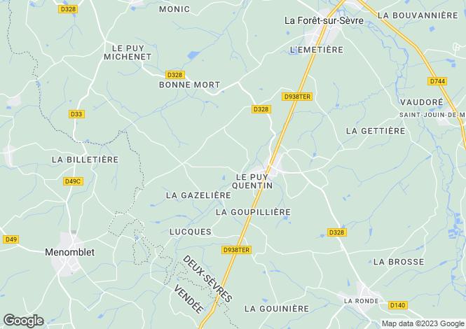 Map for La Forêt-sur-Sèvre, Deux-Sèvres, Poitou-Charentes