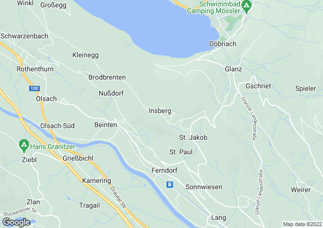 Map for Ferndorf, Carinthia, Austria