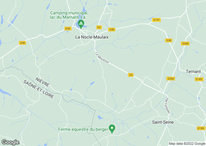 Map for La Nocle-Maulaix, Bourgogne, 58250, France