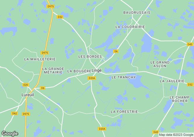Map for linge, Indre, France