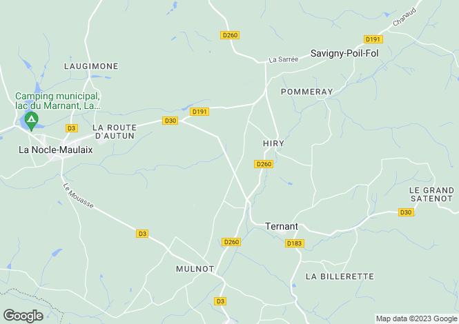 Map for Ternant, Bourgogne, 58250, France