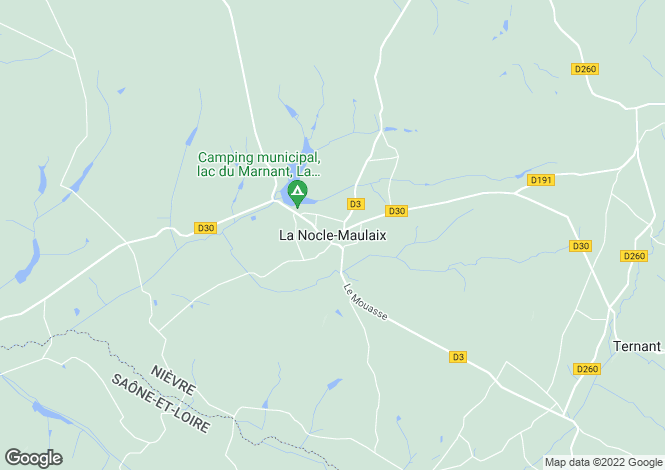 Map for La Nocle-Maulaix, Bourgogne, 58250, France