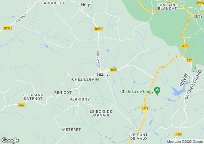 Map for Tazilly, Bourgogne, 58170, France