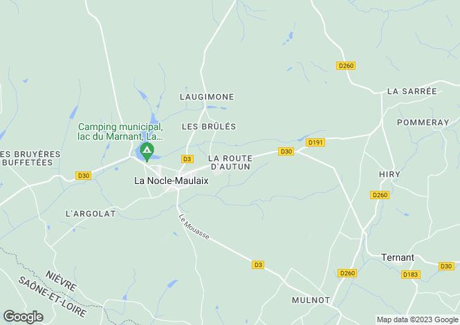 Map for La Nocle Maulaix, Bourgogne, 58250, France
