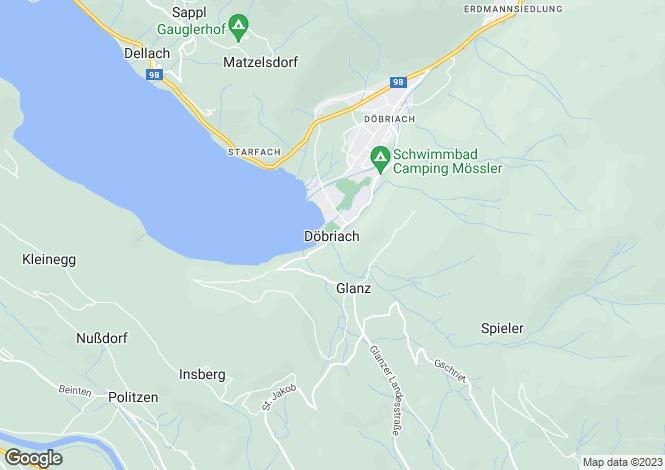 Map for Kärnten, Spittal an der Drau, Döbriach, Austria