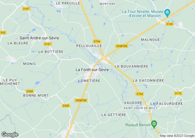 Map for la-foret-sur-sevre, Deux-Sèvres, France