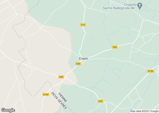 Map for craon, Vienne, France