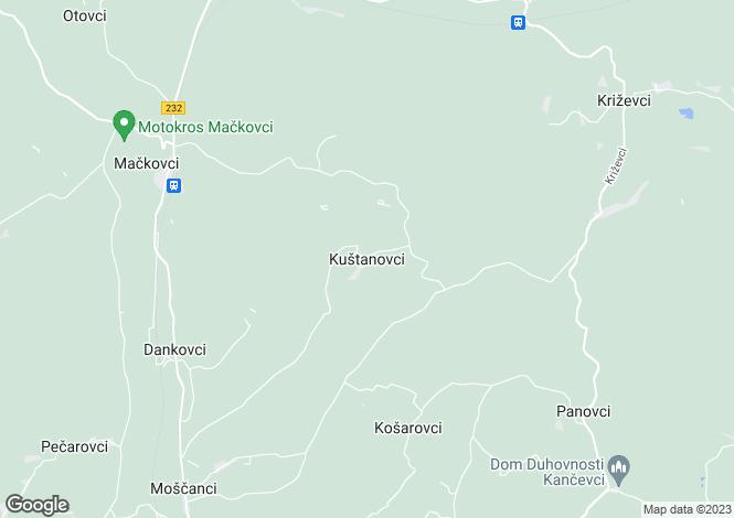 Map for Murska Sobota, Mackovci, Slovenia